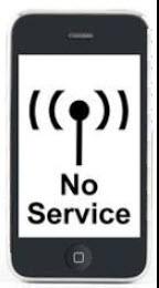 no cell service